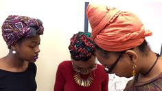 The colorful headwraps known as geles (pronounced gay-lays) are worn by many women as an expression of their connection to the African continent.