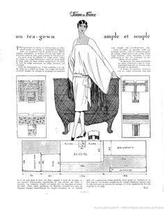 free vintage sewing pattern / La Femme de France [