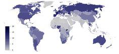 ¿Qué parte del mundo es la que está más lejos de toda le gente?