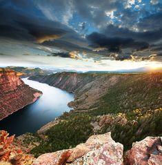 Flaming Gorge recreation area in Northern Utah