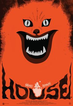 "HOUSE (1977) ""Hausu"" (original title). Might have to watch this one day, it seems crazy and I love the cover."