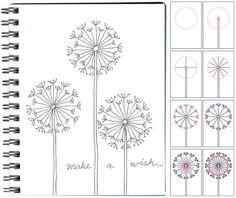 step-by-step-dandelions.jpg (654×551)
