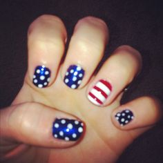 4th of July nails. HOME COMING NAILS