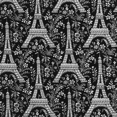 Michael Miller House Designer - Petite Paris - Eiffel Tower in Ebony