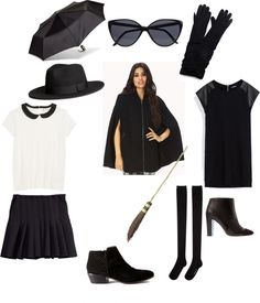 AHS Coven Inspired Wardrobe - black cape and more black