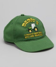 Take a look at this Green 'Daddy's Little Helper' Baseball Cap by John Deere on #zulily today!