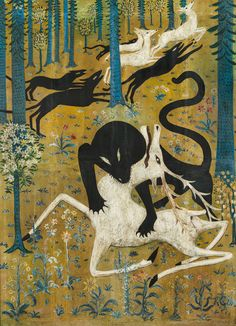 Robert W. Chanler, Leopard and Deer