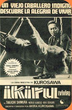 Ikiru (1952) Poster Movie Spanish