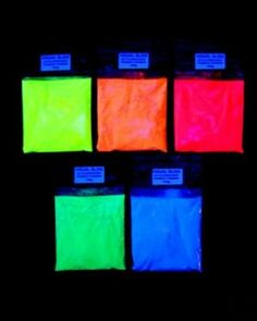 Pigment additive Dust Glow Fluorescent Glow in the Dark 5 Colors (Colorful Day)-Neon Blue, 100 grams by StickersLab Polymer Clay Tools, Diy Pipe, Pottery Tools, Pigment Powder, Neon Glow, Glitter Paint, Op Art, Light In The Dark, The Darkest