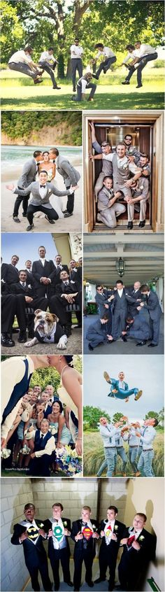 20 Hilarious and Creative Groomsmen Photo Ideas!