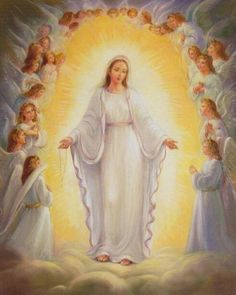 Mary, Queen of Heaven Blessed Mother Mary, Divine Mother, Blessed Virgin Mary, Religious Pictures, Jesus Pictures, Catholic Art, Religious Art, Queen Of Heaven, Mama Mary