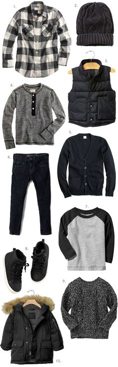Boys Fall Fashion at J. Crew Black is Back Baby ElJay inspiration