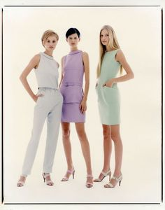 Trish Goff, Stella Tennant and Kirsty Hume photographed by Patrick Demarchelier for Ready to Wear Spring/Summer 1996 campaign.