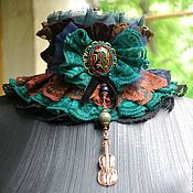 Textile Jewelry, Jewelry Art, Steampunk Hat, Ribbon Jewelry, Mixed Media Jewelry, Altered Couture, Ruffle Collar, Lolita Dress, Collars