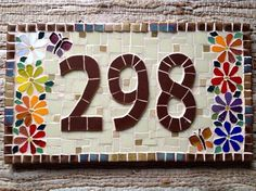 Trabalhos em Mosaico: Numero em Mosaico para Casa …