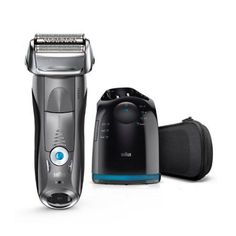 Braun Series 7 7865cc Wet & Dry Electric Shaver for Men with Clean & Charge System, Premium Grey Cordless Razor, Razors, Shavers, Pop up Trimmer, Trav