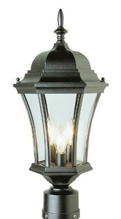 Trans Globe Lighting 4504 Rt 3 Light Post Lantern Rust By Outdoor