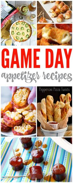 Game Day Appetizers! The perfect football snack recipes and mini party treats!