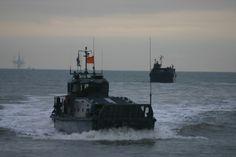 landing vessel aproaching the beach