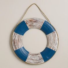 Wooden Life Preserver Decor