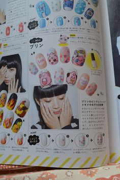 pink pokemon nails