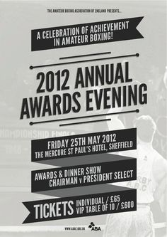2012 Annual ABAE Awards Night - Amateur Boxing Association of England Limited