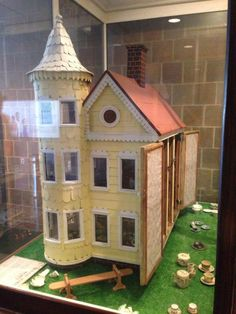 """Thank you to reader Courtney Stearn for sending me this photo of an antique dollhouse she spotted at The Charleston Museum. There were even little dolls inside (although no shaggy dog). I love it when fiction and real life collide! Although there is a little bit of the """"creep factor"""" as those of you who've read THE STRANGERS ON MONTAGU STREET probably agree… :-0"""