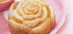 Gâteaux roses gourmands à la lavande
