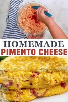 Homemade Pimento Cheese is a creamy, zesty spread made with freshly grated cheese and pimentos. It comes together in just a few minutes for an amazing spread that you'll want to put on everything! If you're unfamiliar with pimento cheese, it's a cheese spread that flavored with pimentos. Pretty simple. It's usually used as a dip, spread, or on sandwiches! | The Gracious Wife @thegraciouswife #southernpimentocheese #pimentocheesespread #bestpimentocheesespread #grilledcheese #thegraciouswife