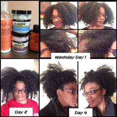 1 Shea Moisture Co-Wash Conditioner Cleanser 2 Aunt Jackie's In Control Conditioner 3 Aunt Jackie's Curl La La 4 Cream of Nature Argan Oil  #hairstory #texture #nappy #curly #coily #curls #fro #wavy #natural #naturals #kinks #coils #spirals  #hairtype #gotfrizz #mane #hair  #knots #kinky #naturalhair