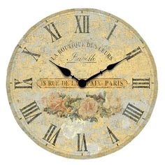 I pinned this Boutique Roses Wall Clock from the Design Icon: Paul Cezanne event at Joss and Main!