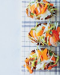 endive/apricot tartines... i'm intrigued!