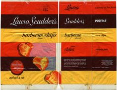 Laura Scudder's barbecue flavored potato chips - window bag - 1970's by JasonLiebig, via Flickr