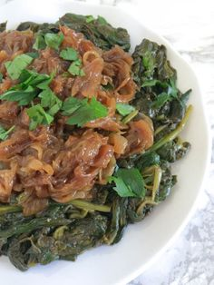 Garlicky Greens with