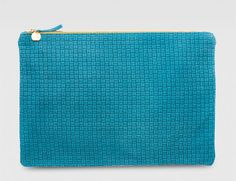 The Clare Vivier Basketweave Oversized Flat Clutch. Love the simplicity!