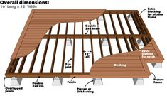 Deck Footings without Digging . Deck Footings without Digging . Build A Deck without Digging Holes Using A Deck Post Base Building A Floating Deck, Deck Building Plans, Floating Deck Plans, Wood Deck Plans, Free Deck Plans, Casa Patio, Backyard Patio, Patio Decks, Pergola Patio