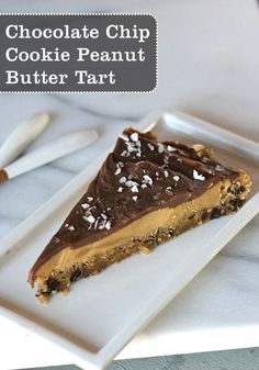Looking for the perfect balance of chocolate and peanut butter? This tart has both, as well as a delicious cookie crust.