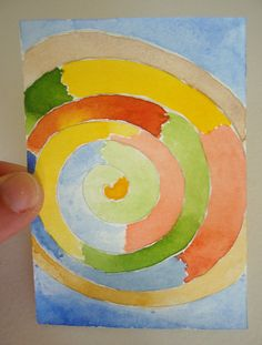 ACEO Original Watercolor Art Card  Rainbow by ChanelledCreations, £6.00