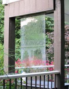 Stylish Outdoor Water Walls Ideas For Backyard Diy Water Feature, Backyard Water Feature, Large Backyard, Ponds Backyard, Backyard Landscaping, Backyard Ideas, Garden Ideas, Modern Outdoor Fountains, Garden Water Fountains