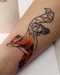 Tatoo Designs, Geniale Tattoos, Fox Tattoo, Fox Art, Symbolic Tattoos, Word Tattoos, Future Tattoos, Flower Petals, Tatting