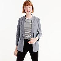 Unstructured blazer in cotton-linen