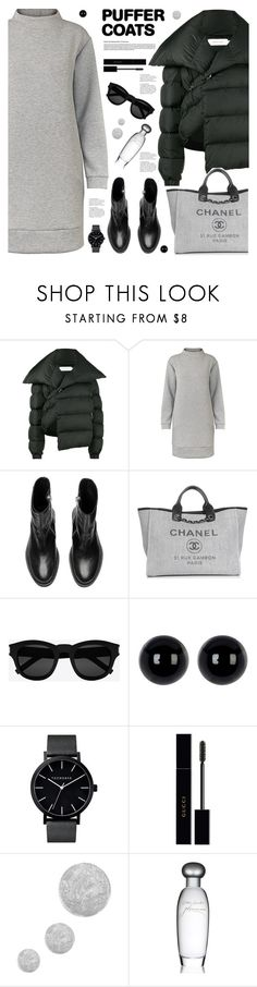 """Puffer Coats"" by tamara-p ❤ liked on Polyvore featuring Marques'Almeida, Chanel, Yves Saint Laurent, Gucci, Topshop, Estée Lauder and puffercoats"