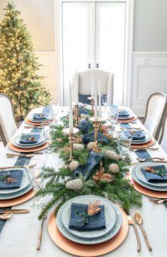 An Easy Christmas Centerpiece for a Long Table - Sanctuary Home Decor
