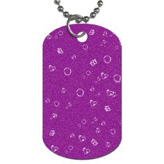 "Sweetie,purple. Sweetie,purple Dog Tag (Two Sides). Dog tags are cool accessories that can be worn as fashion wear or used as a complimentary item. Originally designed as military uniform, now they can designed with pictures and writing, fitted to your specifications.Made from lightweight aluminum.Design images are covered in a clear enamel coating to prolong its longevity.Measures approximately 1.25""(w) x 2""(h).30"" aluminum ball chain included"