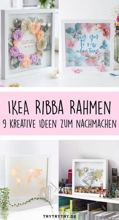 9 hacks and DIY's with a Ribba frame! DIY gift, money gift, DIY hacks and DIY's with a Ribba frame! DIY gift, money gift, DIY decorationDIY decoration ideas to bring spring home with youDIY Diy Home Decor Projects, Diy Projects To Try, Crafts To Make, Pot Mason Diy, Mason Jar Crafts, Mason Jars, Diy Hanging Shelves, Floating Shelves Diy, Don D'argent