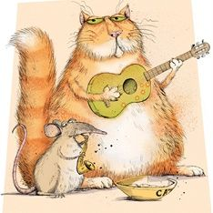 Cat and mouse duet