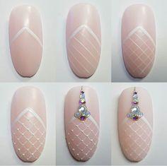 Christmas Nail Designs - My Cool Nail Designs Toe Nail Art, Easy Nail Art, Gem Nails, Hair And Nails, Cute Nails, Pretty Nails, Nail Art Modele, Nail Art Arabesque, Nailart