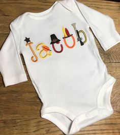 Thanksgiving Onesie Baby's First Thanksgiving Thanksgiving Outfit Baby's Thanksgiving Thanksgiving Baby Thanksgiving Shirt Thanksgiving Outfit, Babys First Thanksgiving, Thanksgiving Ideas, New Baby Boys, Baby Love, Baby Baby, Newborn Outfits, Baby Boy Outfits, Boy Onesie