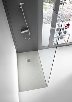 anti-slip rectangular shower tray | by roca