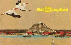 walt disney world, the vacation kingdom of the world. polynesian resort, vintage postcard